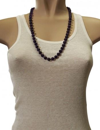 Purple beaded Italian necklace.