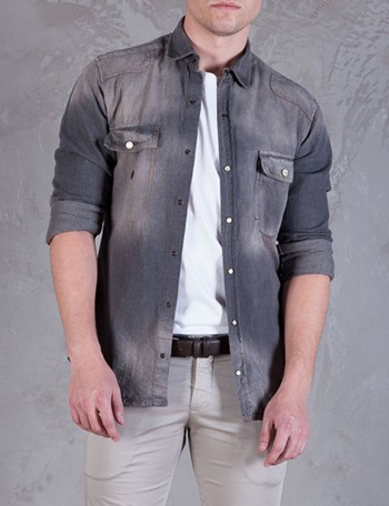 Takeshy Kurosawa Camicia denim shirt